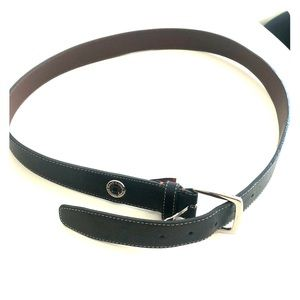 Cole Haan Men's Black Leather Belt size: 38